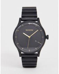Reloj de pulsera en negro mate A1160 Station Nixon de hombre de color Black