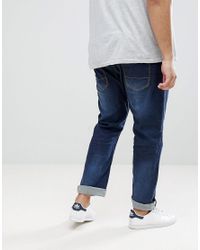 Loyalty & Faith Blue Loyalty And Faith Plus Regular Stretch Fit Jeans In Dark Wash for men