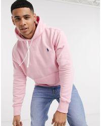 Sudadera rosa con logo Polo Ralph Lauren de hombre de color Pink