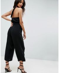 ASOS Black Asos Jumpsuit With High Neck And Buckle