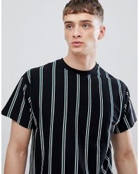 New Look T-shirt With Vertical Stripes In Black for men