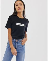 ONLY Blue Slogan Tee