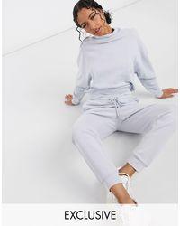 Эксклюзивные Джоггеры Из Органического Хлопка С Флисовой Изнанкой -синий Lindex, цвет: White