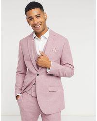 Розовый Пиджак Узкого Кроя -розовый Цвет Topman для него, цвет: Pink