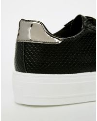 ASOS Black Definitely Lace Up Trainers