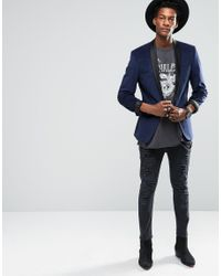 ASOS Black Super Oversized Sleeveless T-shirt With Splatter Snake Print And Distressing for men