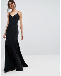 0ed190119af7 Lyst - C meo Collective Right Now Full Length Gown Dress in Black