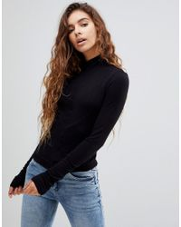 Cheap Monday Black Funds Turtleneck Long Sleeved Top