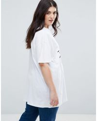 ASOS White T-shirt In Oversized Fit With Hello Kitty Face Print