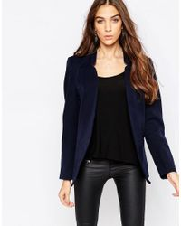 ONLY Blue Amy Isoldora Woven Blazer - Navy