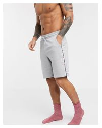 Tommy Hilfiger Gray Authentic Taping Lounge Sweatshorts for men