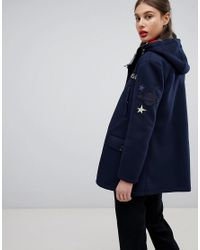 Emporio Armani - Blue My Universe Bonded Duffle Coat - Lyst