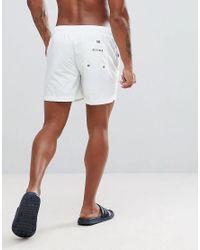 Tommy Hilfiger White Flag Swim Short for men