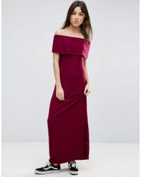 NYTT Red Off The Shoulder Maxi Dress