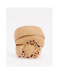 Ремень С Черепаховой Пряжкой -коричневый Monki, цвет: Multicolor