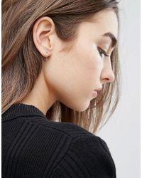 Kingsley Ryan - Metallic Fine Heart Hoop Earrings - Lyst