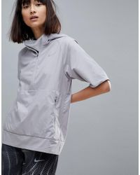 Nike Gray Flex Essential Short Sleeve Jacket In Grey
