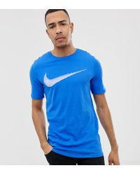 0890497fc2d3 Nike T-shirt With Hangtag Swoosh In Blue 707456-403 in Blue for Men ...