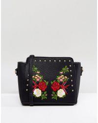 f367a575ac Yoki Fashion Yoki Embroidered Crossbody Bag With Studding in Black ...