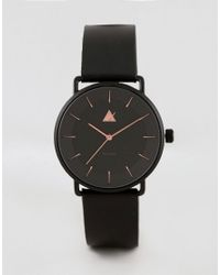 ASOS - Plus Watch In Black With Rose Gold Highlights for Men - Lyst