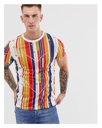 T-shirt a righe con stampa nautica di ASOS in Multicolor da Uomo