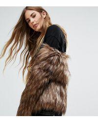 Unreal Fur Brown Collarless Dream Jacket