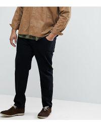 ASOS Asos Plus Stretch Slim Jeans In 12.5oz True Black for men