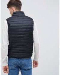 Esprit - Ultra Light Thinsulate Gilet In Black for Men - Lyst