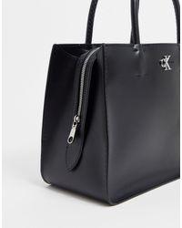 Maxi borsa con logo di Calvin Klein in Black