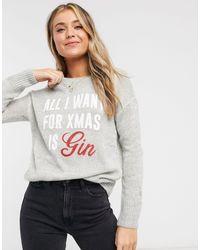 New Look Gray Christmas Jumper