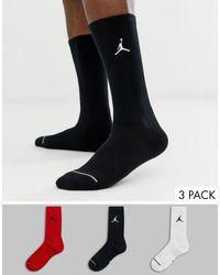 Nike - Confezione da 3 paia di calzini multicolore con logo di Nike da Uomo