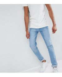 Loyalty & Faith Blue Loyalty And Faith Tall Beattie Skinny Fit Jean In Light Wash for men
