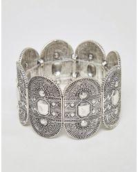 ASOS - Metallic Exclusive Engraved Stretch Bracelet - Lyst