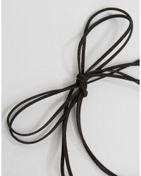 Krystal London - Black London Swarovski Crystal Pack Of Two Cord Choker - Lyst