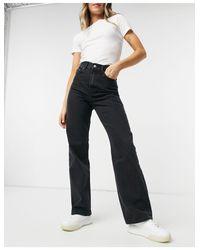 Echo - Jeans con fondo ampio neri di Dr. Denim in Black