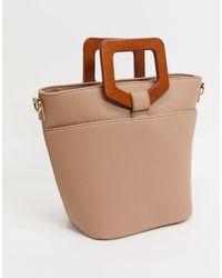 Светло-коричневая Сумка-шопер -коричневый Цвет Pieces, цвет: Brown