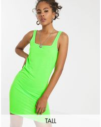 Erin - Vestito a fascia con scollo quadrato di Noisy May in Green