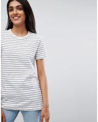 ASOS Blue Ultimate Stripe Crew Neck T-shirt