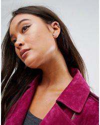 ASOS - Metallic Pack Of 2 Arrow Stud Earrings And Ear Cuff - Lyst
