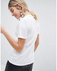"""T-shirt con scritta """"Saturday"""" di New Look in White"""