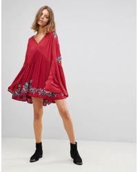 Free People Te Amo Flared Sleeve Mini Dress