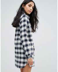 Pepe Jeans Red Jona Checked Shirt Dress