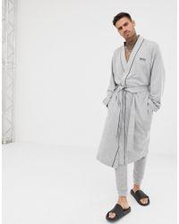 BOSS by Hugo Boss Gray Dressing Gown for men