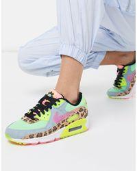 Air Max 90 - Baskets à motif animal fluo en Caoutchouc Nike - Lyst
