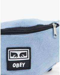 Obey – Wasted – Gürteltasche in Blue für Herren
