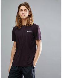 Nike Red Miler T-shirt In Purple 833591-652 for men
