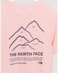 Peaks - T-shirt rosa di The North Face in Pink