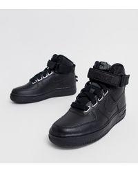 Nike Air Force 1 Hi Sneakers In Black