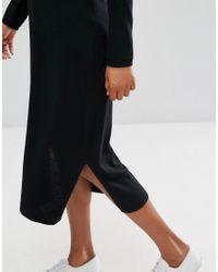 Esprit Black Midi Knit Dress