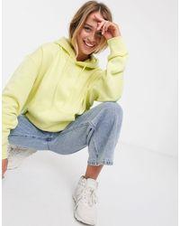 Weekday Yellow Alisa Organic Cotton Oversized Hoodie